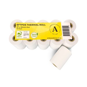 Verifone Vx670 Thermal Eftpos Roll 57X38mm Pack 10 Image