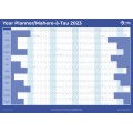 NXP 2021 Wall Planner A1 Double Sided Laminated