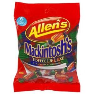 Allens Mackintosh Toffees Family Bag 200g