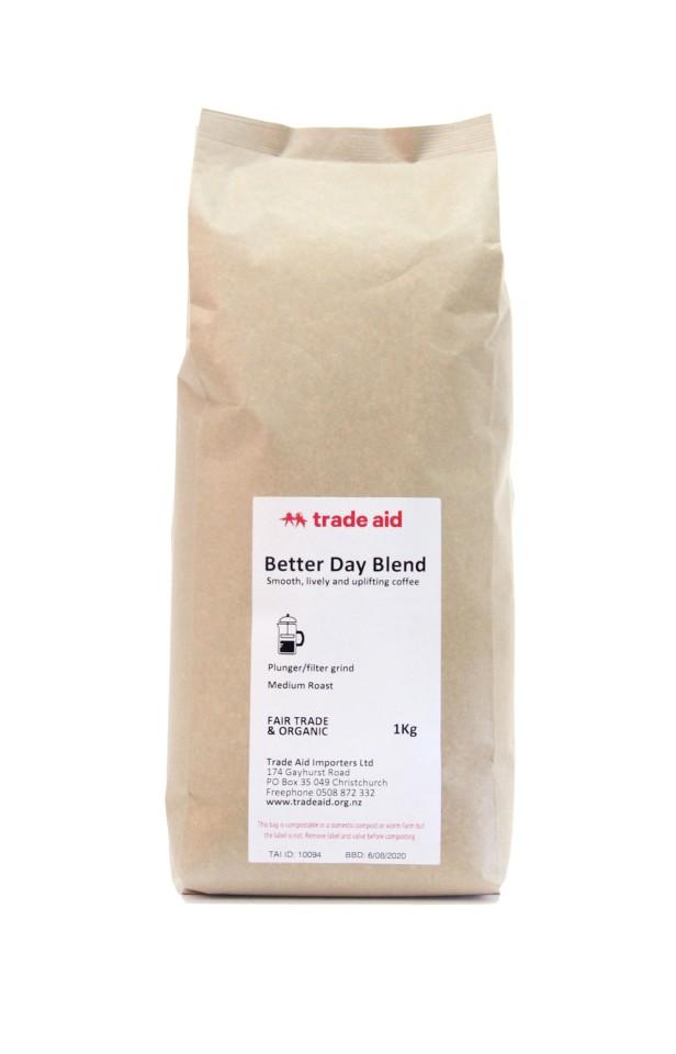 Trade Aid Better Day Blend Medium Ground Coffee 1kg