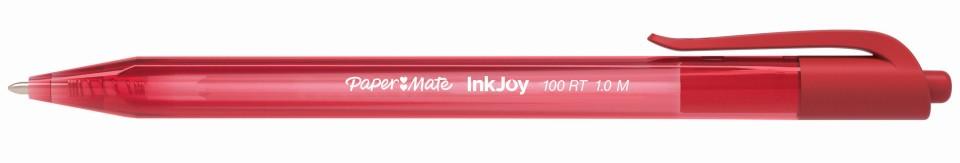 Paper Mate Inkjoy 100 Ballpoint Pen 1.0mm Red Box 12