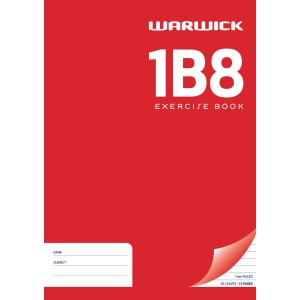 Warwick Exercise Book 1B8 36 Leaf A4 Unpunched Ruled 7mm