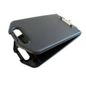 Gbp Moulded Plastic Storage Clipboard Black