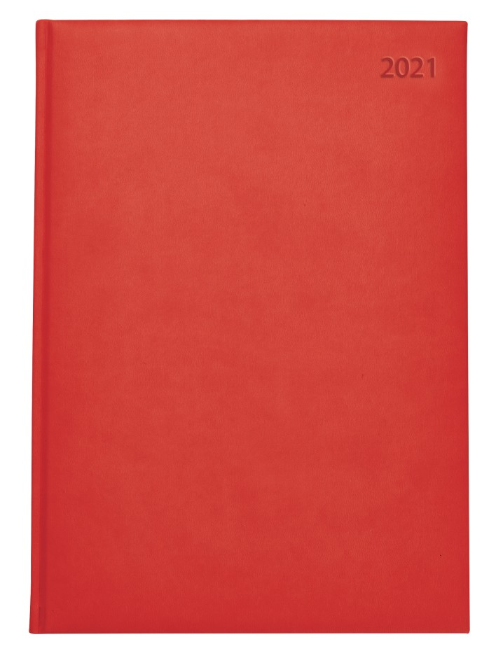 2021 Suave Soft Touch Hardcover Diary A5 Day To Page Red