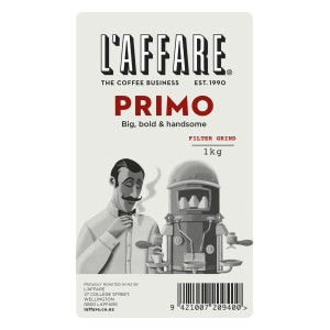 L'affare Primo Plunger & Filter Ground Coffee 1kg