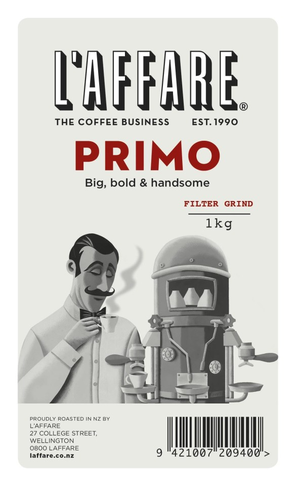 L'affare Primo Plunger & Filter Ground Coffee 1kg
