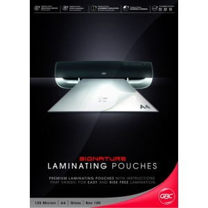 GBC Laminating Pouches 125 Micron A4 Pack 100