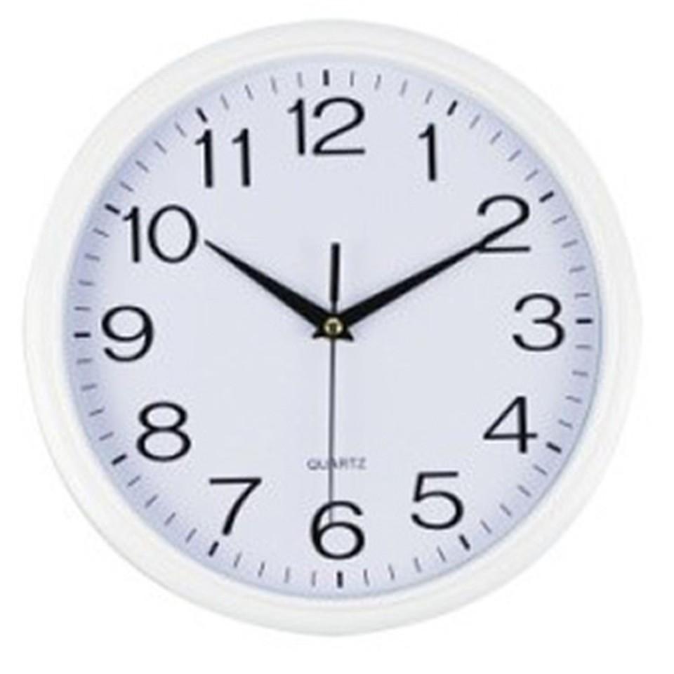 Italplast Wall Clock 30cm Diameter Frame White