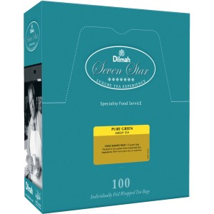 Dilmah Natural Pure Green Tea Bags Pkt 100