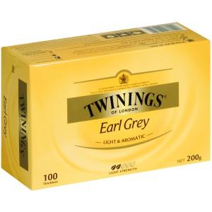 Twinings Earl Grey Tagless Tea Bags Packet 100