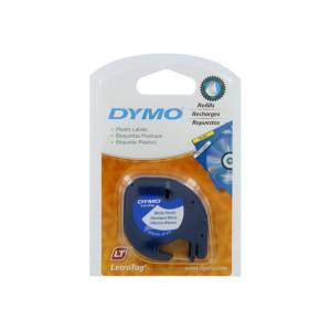Dymo Letratag Label Printer Plastic Tape 12mmx4m White