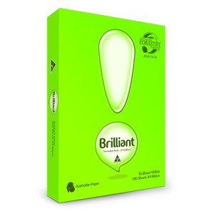 Brilliant Copy Paper A4 Carbon Neutral 80gsm White Ream of 500 Box of 5