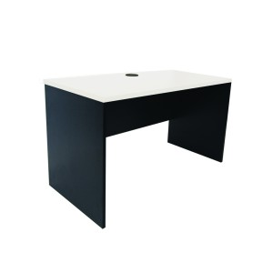 Sonic Straight Desk 1200l X 600d X730h White Top With Charcoal Frame