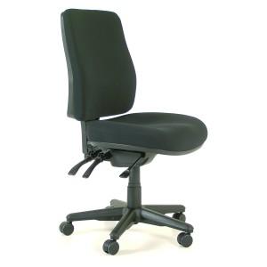 Buro Roma 3 Lever High Back Chair Black