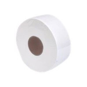 Pacific Deluxe Jumbo Toilet Tissue 2 Ply White 300 meters per Roll DJ2 Carton of 8 Image