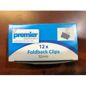 Foldback Clips 32mm Box 12