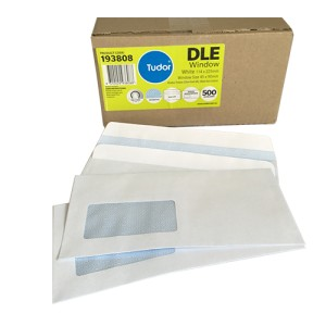 Candida Banker Wallet Window Envelope Self Seal DLE 114mm x 225mm White Box of 500