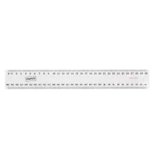 Ruler Clear Plastic 30cm Metric