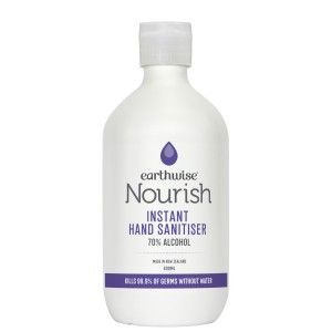 Earthwise Nourish Premium Instant Hand Sanitiser 400ml - NZ Made