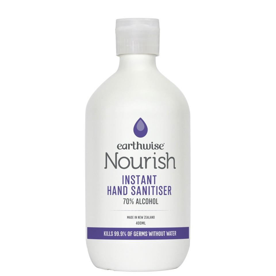 Earthwise Nourish Premium Instant Hand Sanitiser 400ml - NZ Made
