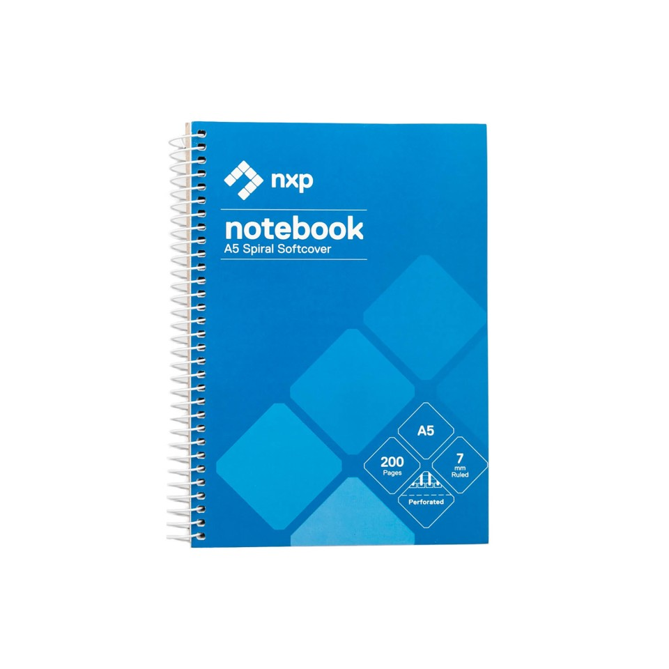 NXP Spiral Notebook A5 200 Pages