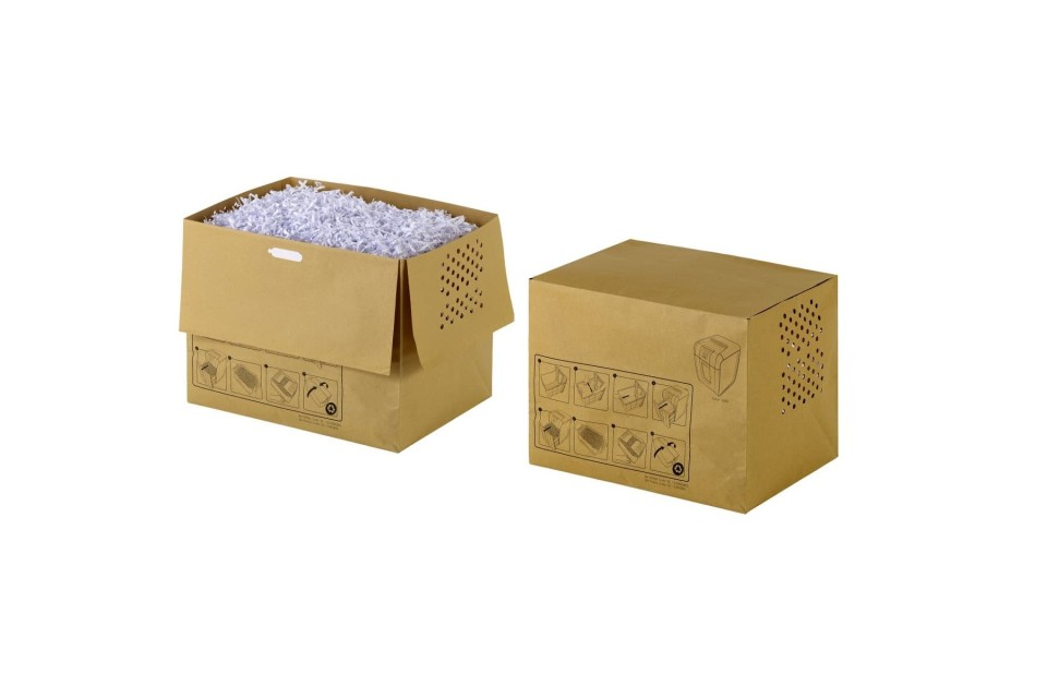 Rexel Auto+ 300X Shredder Bags Recyclable 40L Pack 20