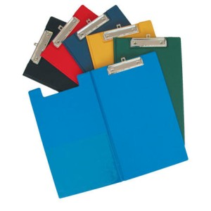 Gbp Fscp PVC Double Clipboard Black With Pocket