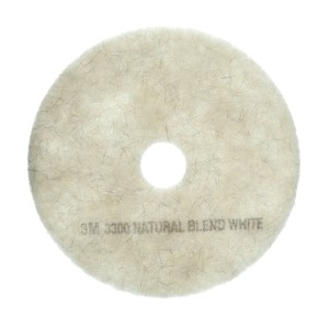 3M 3300 Natural Blend Burnishing Floor Pad White 610mm 61500114519