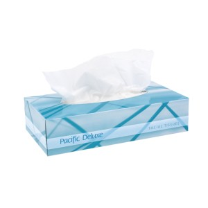 Pacific Deluxe Facial Tissues 2 Ply White DF100 Box of 100