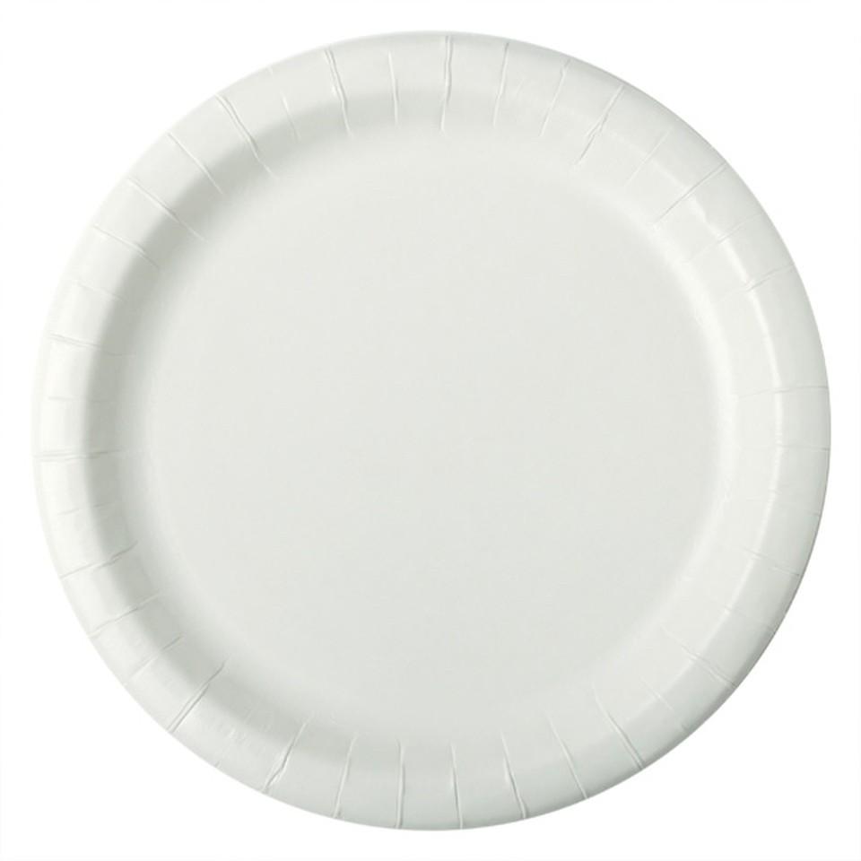 Huhtamaki Paper Dinner Plates 230mm White Pack 250