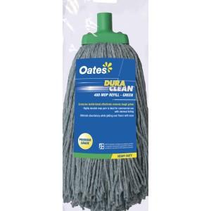 Oates Duraclean Premium Textile Mop Head 400gm Green MH-DC-01G