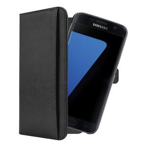 3Sixt Neo Premium Leather Folio For Samsung Galaxy S7 Black