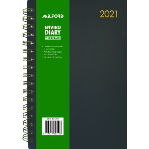 Milford 2021 Enviro Diary A5 Week To View Black