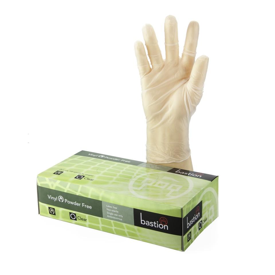 Disposable Vinyl Powder Free Gloves Clear  2XL Box 100