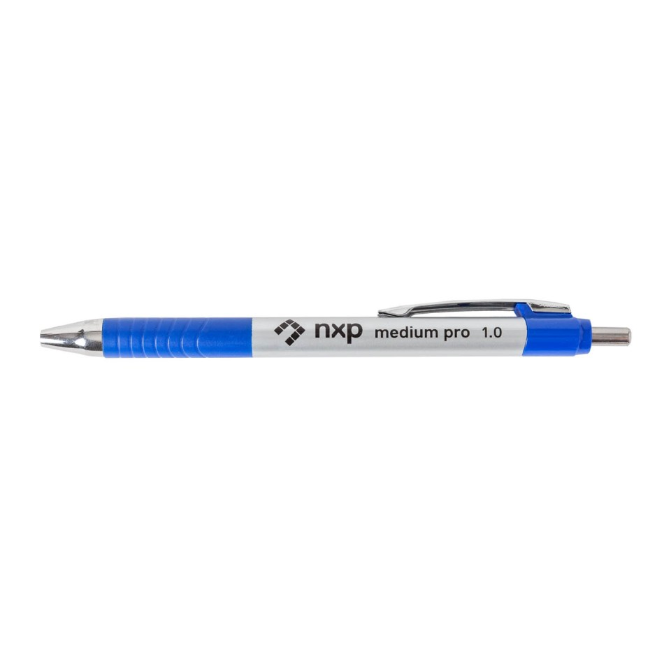NXP Medium Pro Ballpoint Pen Retractable Blue