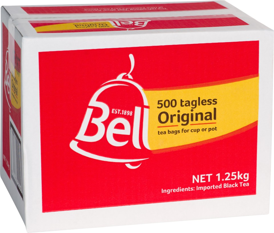 Bell Original Tagless Tea Bags Box 500