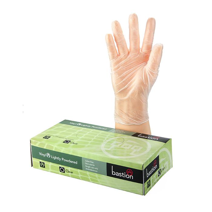 Disposable Vinyl Clear Powder Free Gloves X-Large Box 100