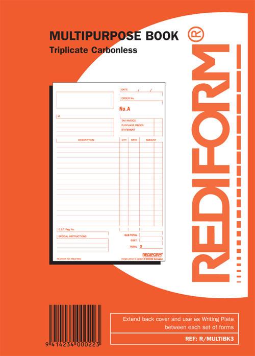 Rediform Triplicate Multipurpose Book