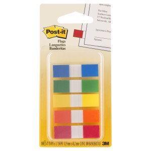 Post-it Portable Mini Flags Assorted Pack 5