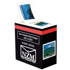 Postage Stamp Kiwi Self Adhesive Box of 100