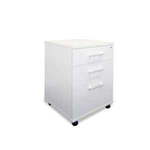 Sonic White 2-drawer And File Mobile Storage Unit