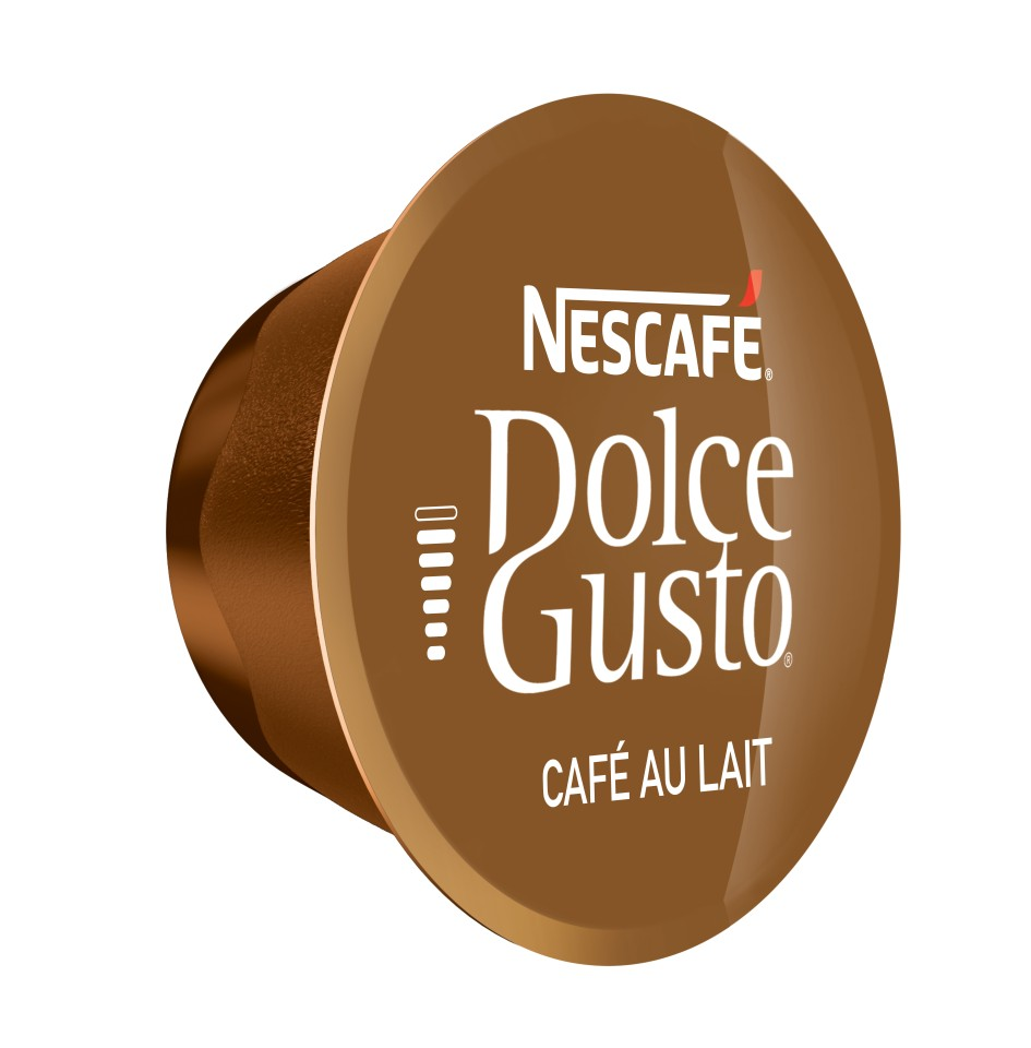 Nescafe Dolce Gusto Cafe Au Lait Coffee Capsules Pack 16