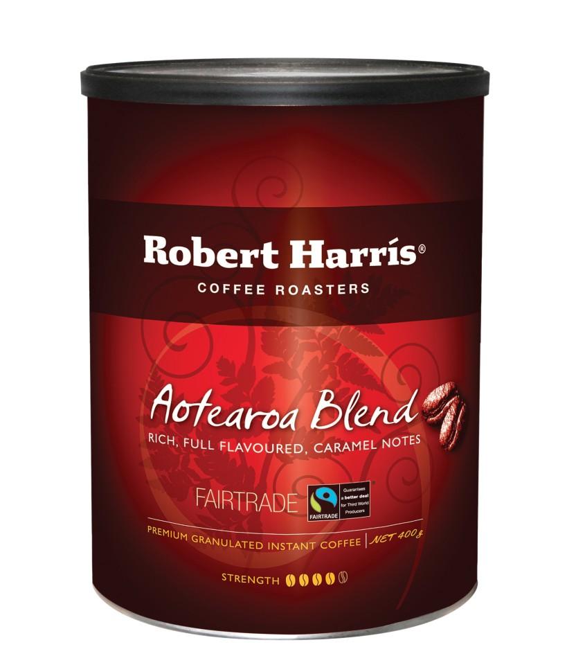 Robert Harris Aotearoa Blend Granulated Instant Coffee Tin 400g