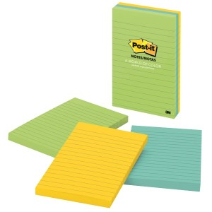 Post-It Super Sticky Notes Jaipur Collection Lined 98 x 149mm Pack 3