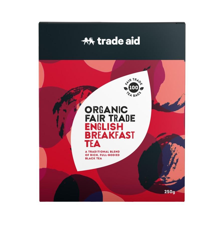 Trade Aid  F/t Organic English Breakfast Black Tea Bags Pack Of 100
