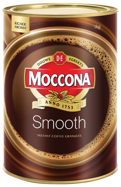 Moccona Smooth Instant Granulated Coffee Tin 1kg