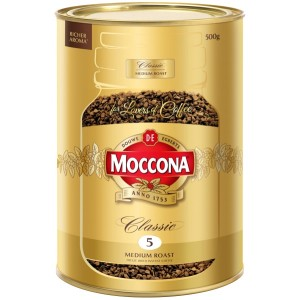 Moccona Classic Medium Roast Instant Coffee Tin 500g