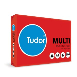 Tudor Copy Paper A4 Carbon Neutral 20% Recycled 80gsm White Ream of 500 Box of 5