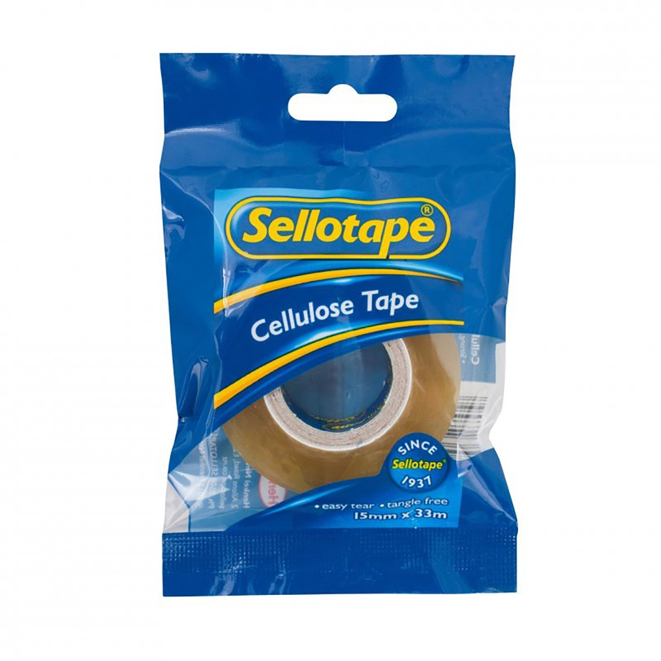 Sellotape 3260 Cellulose 2-Pack 15mmx10m