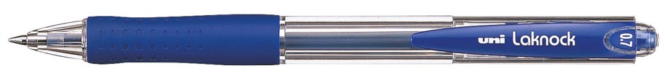 Uni Laknock 0.7mm Retractable Fine Blue SN-100